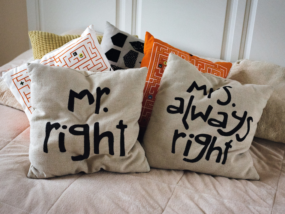 home decor pet peeves_Mr and Mrs